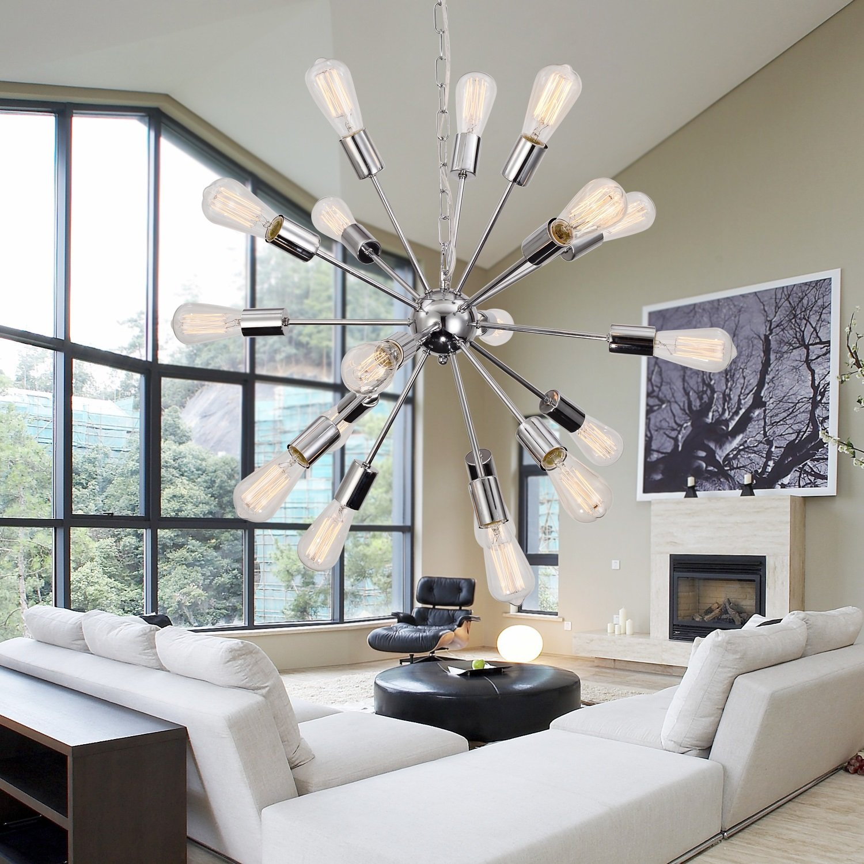 OOFAY LIGHT® Einfache und elegante schmiedeeiserne Kronleuchter 18 Continental Schlafzimmer Wohnzimmer Esszimmer Kronleuchter Kronleuchter