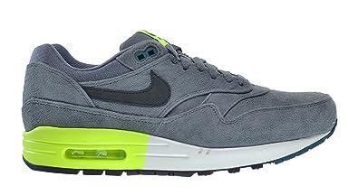 Nike Air Max 1 Premium Men\u0026#39;s Shoes Cool Grey/Black Pine-Volt-White