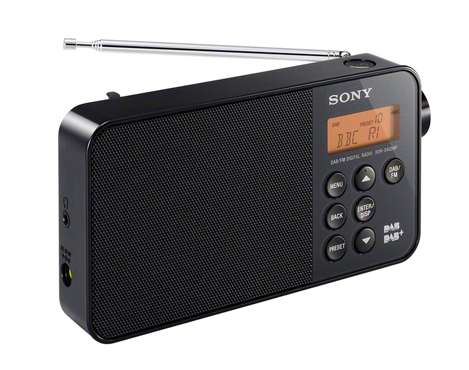 sony xdr s40 dab dab fm ultra compact portable digital radio black brand new ebay. Black Bedroom Furniture Sets. Home Design Ideas