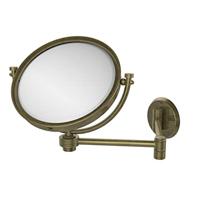 Allied Brass WM-6G/4X-ABR 8-Inch Wall Mirror with 4x Magnification, Extends Up to 14-Inch, Antique Brass