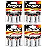 Energizer Max C Cell Alkaline Battery, 16 Batteries (4 X 4 Count Packs)