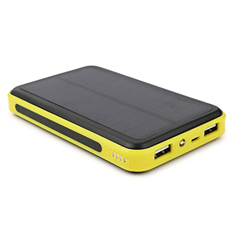 ALLPOWERS 10000mAh Solar Panel Charger with iSolar Technology for iPhone, iPad, Samsung and other 5V USB devices (Yellow)
