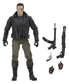 Terminator 2519121 - Figurine T-800 de 7,8cm, scène de l'ultime assaut du commissariat de police