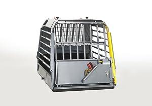4x4 North America Variocage Single Crash Tested Dog Cage - X-Large (Color: Gray/ Black, Tamaño: X-Large)