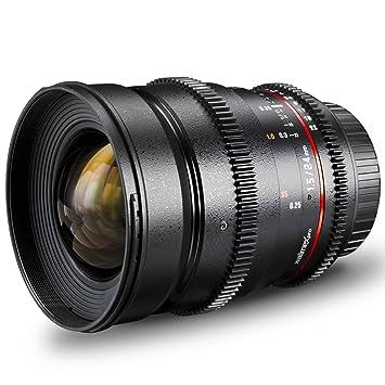 Walimex Pro Objectif grand angle VDSLR 24 mm f/1,5