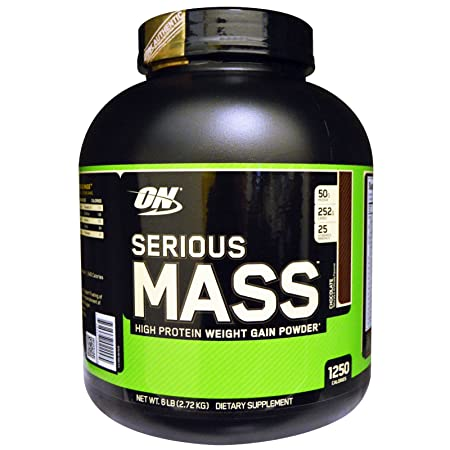 ON (Optimum Nutrition) Serious Mass, (Flavored-Chocolate)Net WT.6LB(2.72kg) With MRP Tagg And Whologram (Importer by-Bright Commodities) at amazon