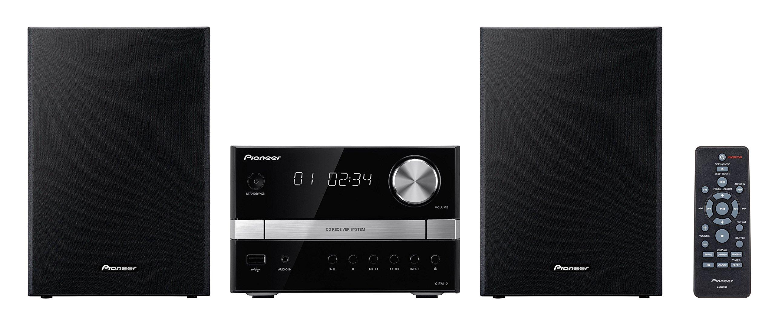 Pioneer X-EM12 2x15W Micro Music System - Black