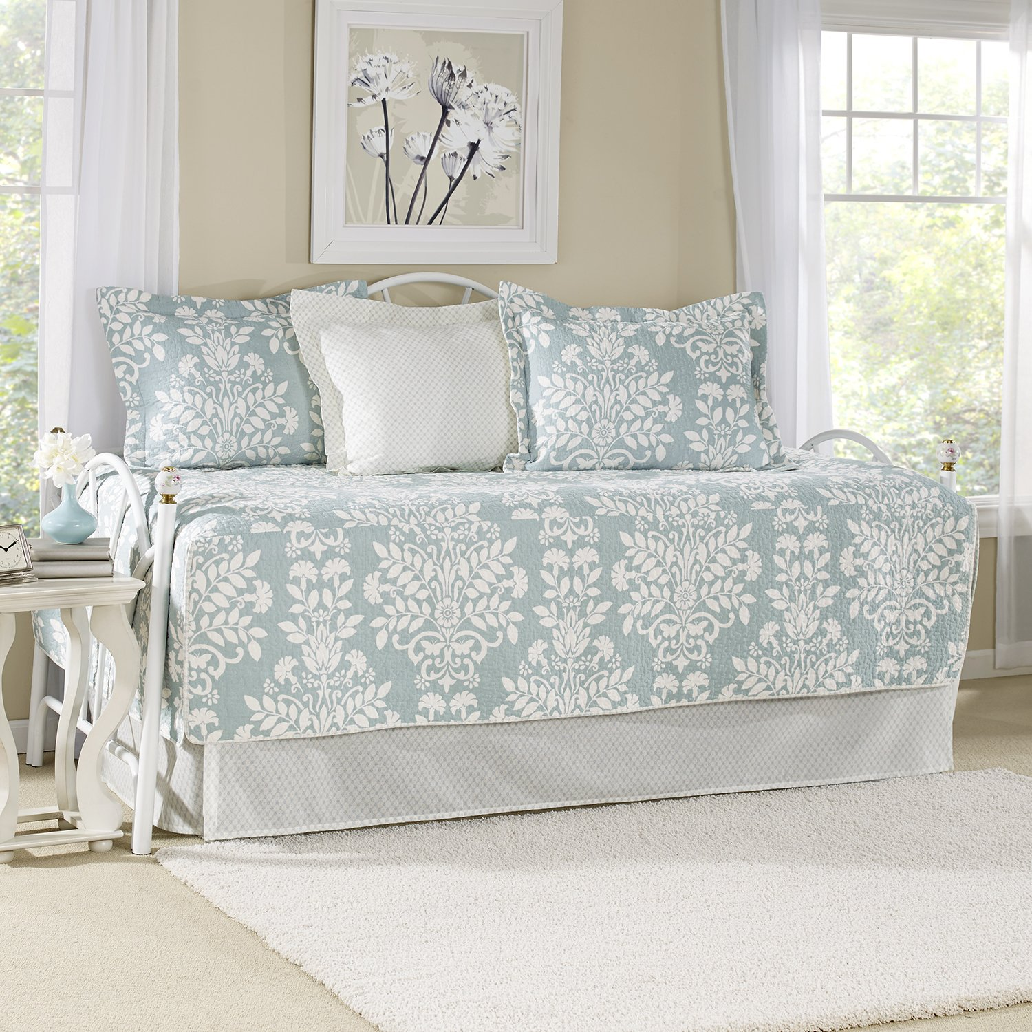 Laura Ashley 5-Piece Rowland Breeze Daybed Cover Set