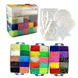 Little Visionary 30,000 Fuse Beads - Deluxe Hama Bead Kit Includes 10 Pegboards, Tweezers, Ironing Paper, Travel Case (30,000) (Tamaño: 30,000)