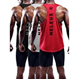 Neleus Men's 3 Pack Dry Fit Athletic Sleeveless Muscle Tank,5031,Black,Grey,Red,L,EU XL (Color: 5031# 3 Pack: Black,grey,red, Tamaño: Large)