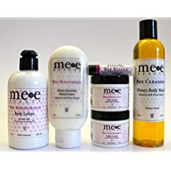 Skin Care Gift Set By Mee Beauty - All Natural & Organic Products - Great Home Spa Kit For Women