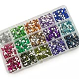 Summer-Ray 4mm Assorted Color Rhinestones in Storage Box Set #3 (Color: Multi, Tamaño: 4mm)