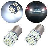 OCPTY 2X White 7528 BAY15D 1157 LED Light bulbs for Back Up Reverse Brake Tail RV lights