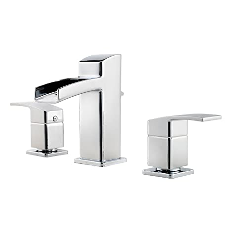 "Pfister LG49-DF0C Kenzo 2-Handle 8"" Widespread Waterfall Bathroom Faucet in Polished Chrome"