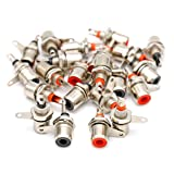 iExcell Jack Panel Mount RCA Female Socket Connectors Adapter 30Pcs