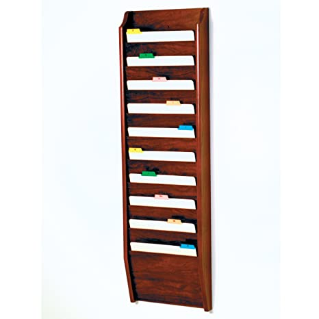 10 Pocket Letter Size File Holder - Mahogany