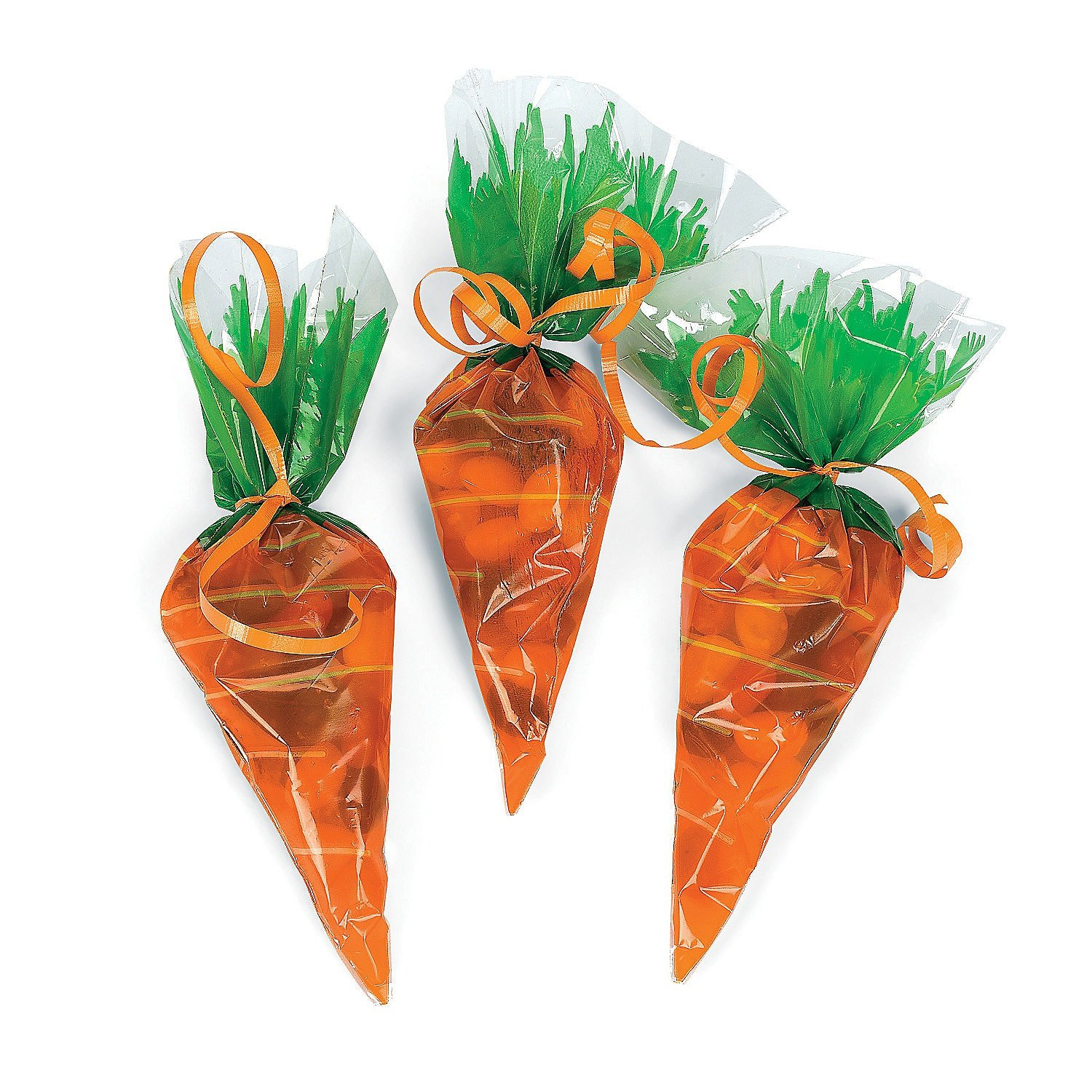 Carrot Cone Cellophane Bags 20ct