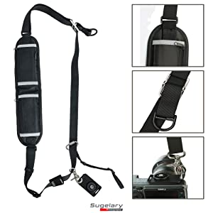 Sugelary Camera Strap, Long Shoulder Neck Sling Strap Quick Release DSLR Strap for Canon Nikon Sony Mirrorless Camera (Shoulder Neck Strap) (Color: Shoulder Neck Strap)