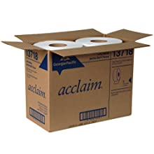 "Georgia-Pacific Acclaim 13718 White 1-Ply Jumbo Jr. Bathroom Tissue, 2000' Length x 3.5"" Width (Case of 8 Rolls)"