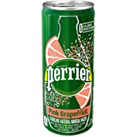 Perrier Sparkling Pink Grapefruit Natural Mineral Water, 8.45 Ounce (Pack of 30)