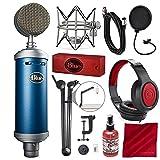 Blue Microphones Bluebird SL Large-Diaphragm Condenser Microphone with Mic Boom Arm Stand, Closed-Back Headphones, and Platinum Bundle (Tamaño: Platinum)