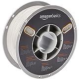 AmazonBasics Premium PLA 3D Printer Filament, 1.75mm, White, 1 kg Spool (Color: White, Tamaño: 1.75mm)