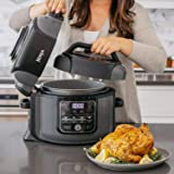 Ninja Foodi TenderCrisp Multi-Cooker and Fryer All-in-One (OP305) (Color: Black/Gray, Tamaño: 6.5 quarts)