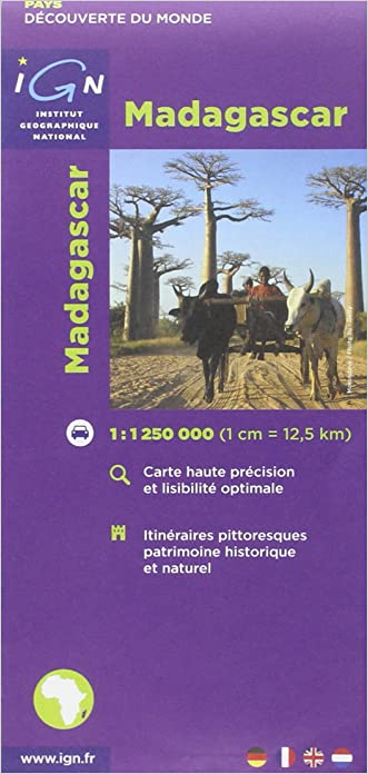 Madagascar Road Map IGN 1:1.25M (English and French Edition) written by Institut Geographique National