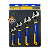 IRWIN VISE-GRIP Adjustable Wrench Set, 4 Piece, 2078706 - Pack 5