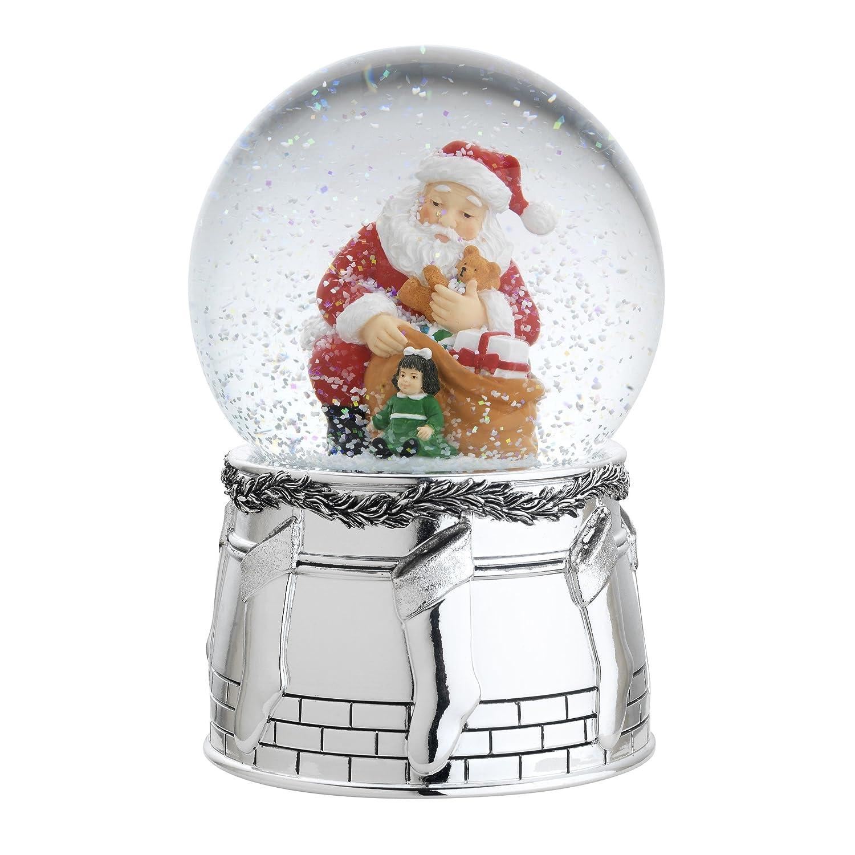 Reed & Barton St. Nick Snowglobe Seasonal Ornament, We Wish You A Merry Christmas, 6-Inch