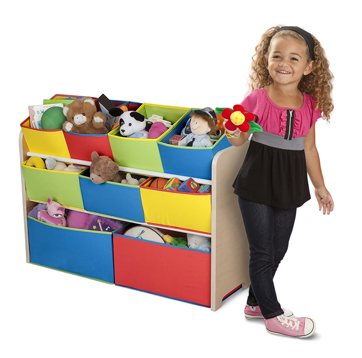 Delta Children Multi-Color Deluxe Toy Organizer with Storage Bins