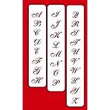 Designer Stencils C109 1.25 Inch Small Script Cake Stencil, Beige/semi-transparent