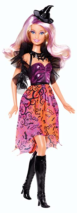 """Poupée Doll Barbie """"Bewitched Bejeweled"""" Halloween 2013 BBV49"""