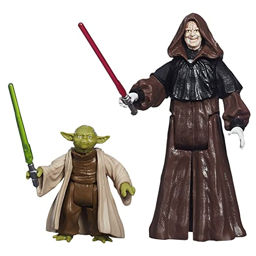 Star Wars – Mission Series – Yoda & Darth Sidious – Figurines 9 cm