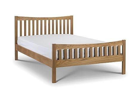 Julian Bowen Bergamo Bed, Wood, Solid Oak, 135 cm, Double
