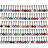 Coolrunner Lot of Surgical Steel Metal Tongue Rings Barbells Funny Nasty Wordings Picture Logo Signs 14g - Length 5/8
