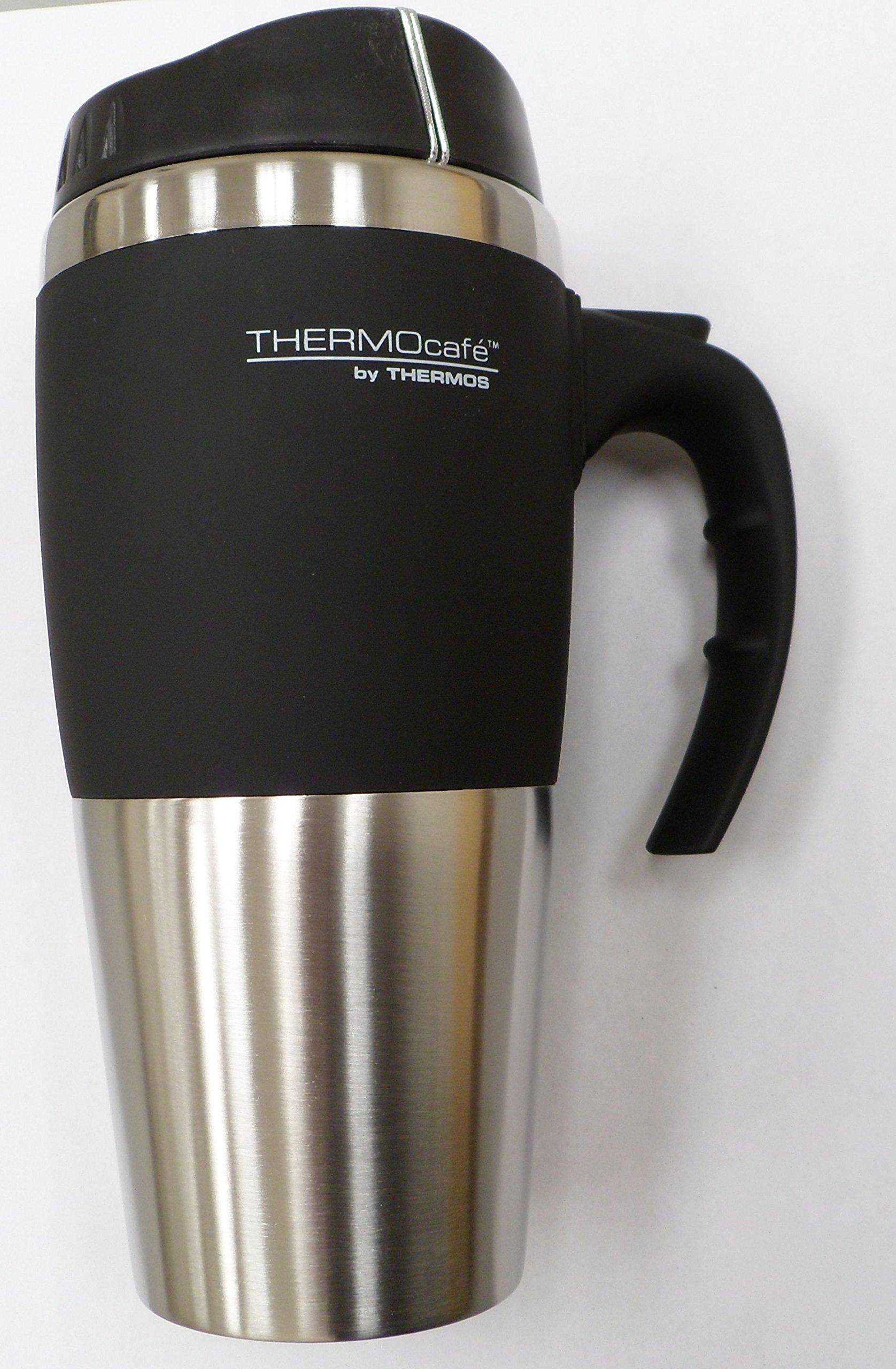 16 oz insulated stainless steel travel mug thermocafe by - Travel mug stainless steel interior ...