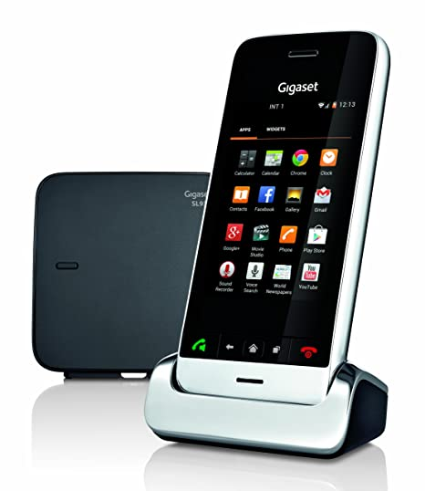 Gigaset SL930A Android DECT Touchscreen Handset w/ Answering Machine (Chrome/Black)