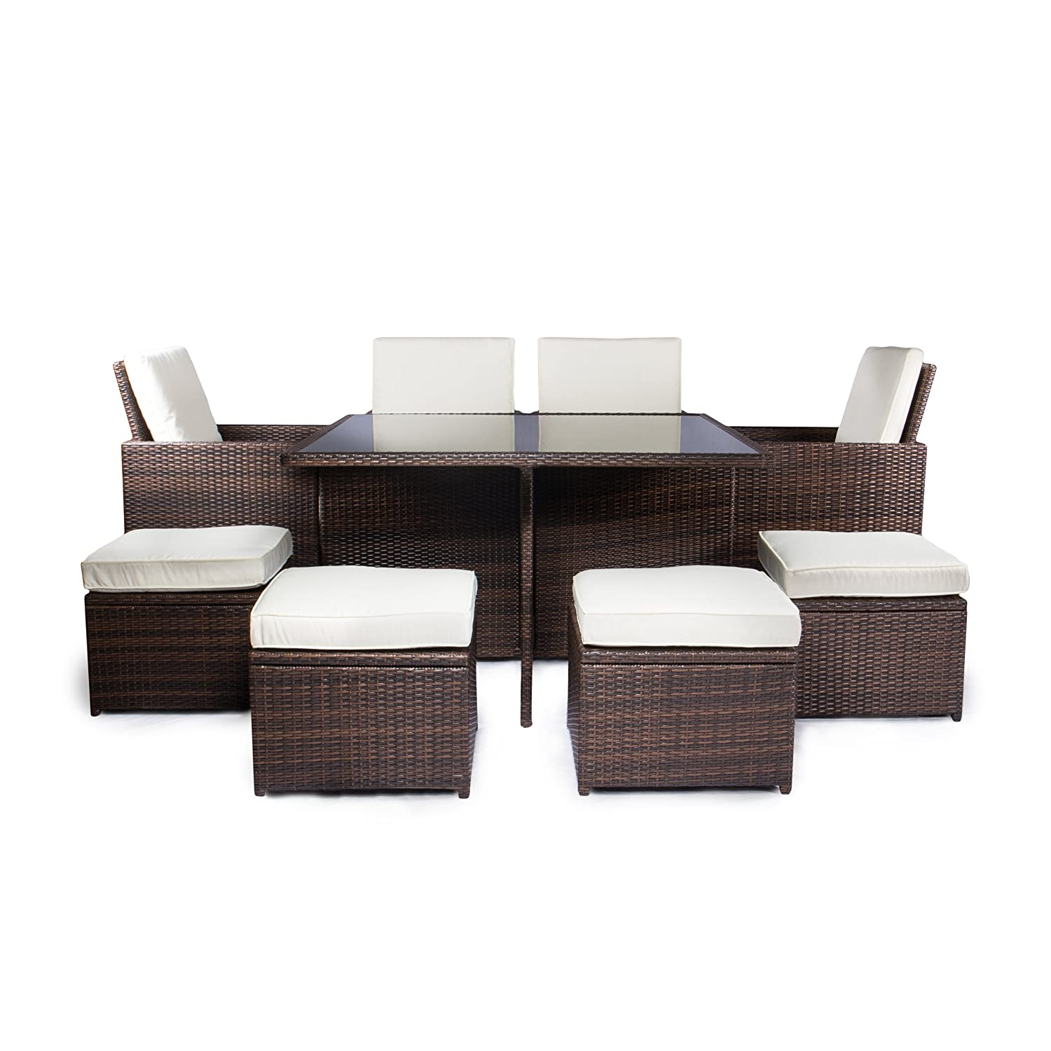 vanage gartenm bel sets gartengarnitur gartenm bel chill und lounge set sydney braun creme. Black Bedroom Furniture Sets. Home Design Ideas