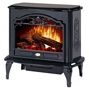 dimplex tds8515tb celeste electric stove glossy black - Free Standing Electric Fireplace