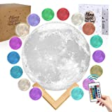 Moon Lamp Moon Light 3D Moon Lamp - [USA Seller] [Upgrade] 16 Color Moon Night Light with Stand - Mood Lamp Book, Globe, Cool Lamp, 7.1 in, USB Charging (7.1 inch - 16 Color) (Tamaño: 7.1 inch - 16 color)