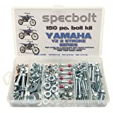 150pc Specbolt Bolt Kit for Yamaha YZ 80 85 125 250. For Maintenance Upkeep and partial Restoration. OEM Spec Fasteners YZ80 YZ85 YZ125 YZ250 (Color: BRILLIANT SILVER ZINC, Tamaño: 150 PIECES FACTORY SIZE HARDWARE)