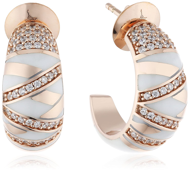 Joop Damen-Creolen 925 Sterling Silber Harz Zirkonia Stripes weiß JPER90308C000 als Weihnachtsgeschenk kaufen