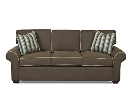 Klaussner Molasses Patterns Sofa, 88 by 37 by 30-Inch