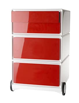 Paperflow 949972 Cassettiera Mobile, Rosso