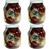 Forum Novelties 53282 Standard Head in Laboratory Jar Party Supplies, One Size, Multicolor (4 Pack, One Size) (Color: 4 Pack, Tamaño: One Size)