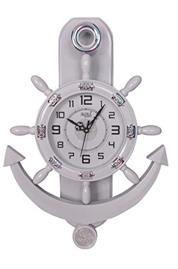 altra plastic pendulum wall clock 45 cm x 30 cm x 5 cm white
