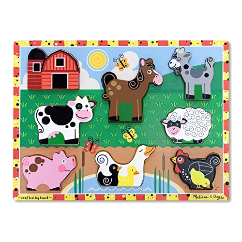 Melissa & Doug Farm Wooden Chunky Puzzle