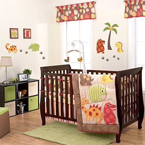 Dino World 3 Piece Baby Crib Bedding Set by Belle