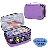 Luxja Sewing Accessories Organizer, Double-Layer Sewing Supplies Organizer for Needles, Scissors, Measuring Tape, Thread and Other Sewing Tools (NO Accessories Included), Medium/Purple (Color: Purple, Tamaño: Medium)